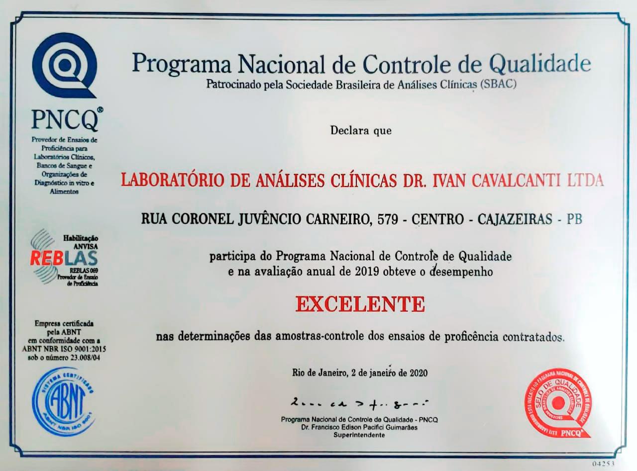 PNCQ Programa Nacional de Controle de Qualidade