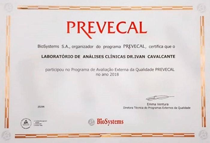PREVECAL Laboratório de Análises Clínicas Dr. Ivan Cavalcanti