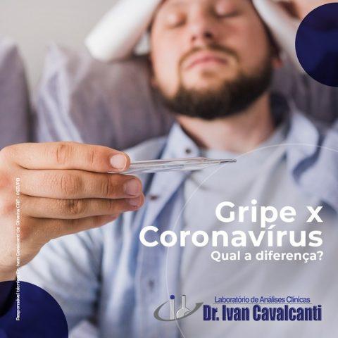 Gripe x Coronavírus Qual a diferença?